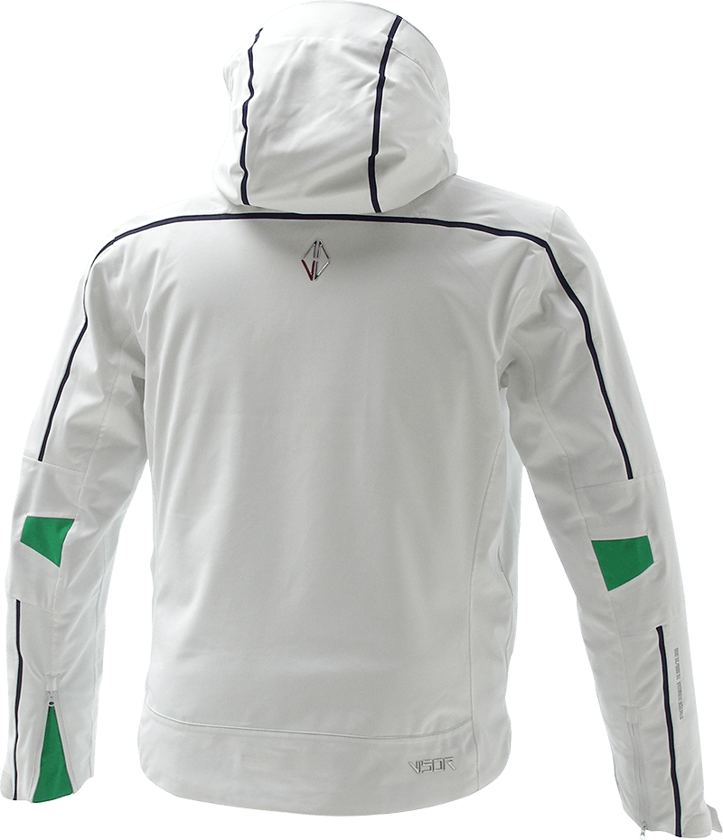 Men Edge Jacket white back