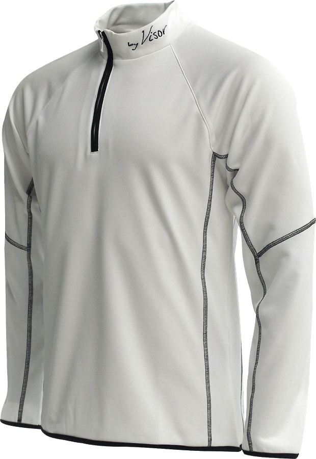 Men Sense Midlayer white front
