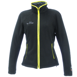 Women VANAGO Fleece Jacket black yellow